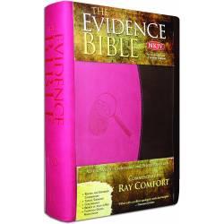The Evidence Bible (NKJV) IMITATION LEATHER PINK