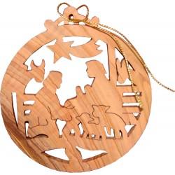 Nativity Christmas Round Ornament