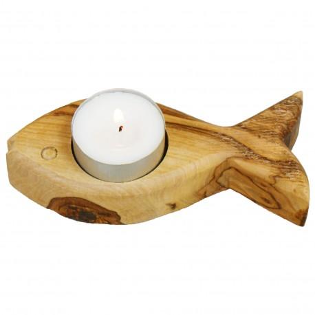 Tealight Holder (Fish) WOOD