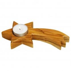 Tealight Holder (Bethlehem Star) OLIVE WOOD