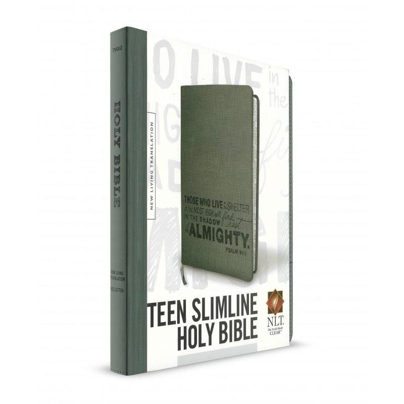Teen Slimline Bible (NLT) Charcoal