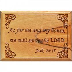 Magnet: Joshua 24:15 (Olive Wood)