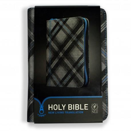 NLT Zip Bible, Blue