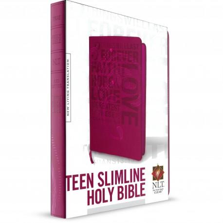 Teen Slimline Bible (NLT) Pink