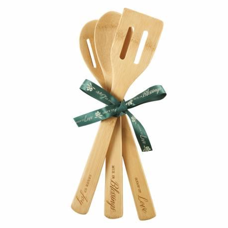 Bamboo Wooden Utensil Set (Love, Blessings, Joy)