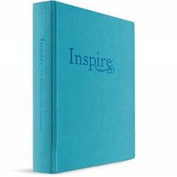 NLT Inspire Creative Journaling Bible Large Print Tranquil Blue