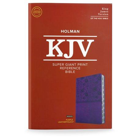 KJV Super Giant Print Reference Bible  - Purple