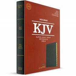 KJV Super Giant Print Reference Bible  - Black