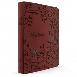 NKJV Holy Bible - Giant Print Edition (RASPBERRY LEATHERSOFT)
