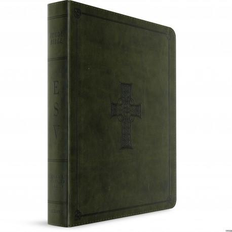 ESV Study Bible (TruTone, Olive Celtic Cross Design, Indexed)
