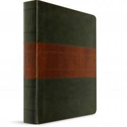 ESV Study Bible Large Print (TruTone Forest/Tan Trail Design)
